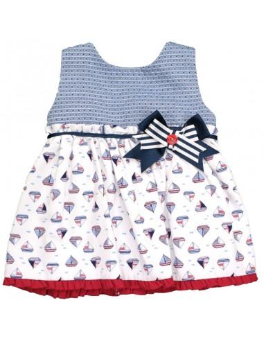 Vestido marinero tela-punto niña