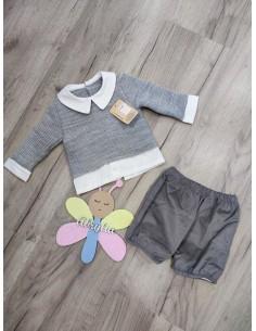 Conjunto gris Jersey y pololo