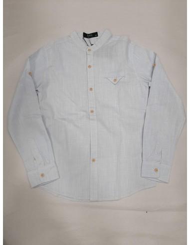 camisa cuello mao algodón
