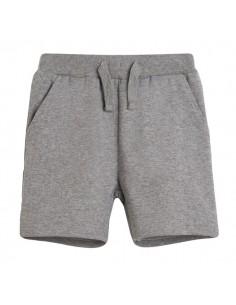 Pantalón corto básico gris