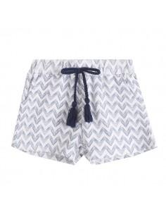 Pantalon corto niña ondas